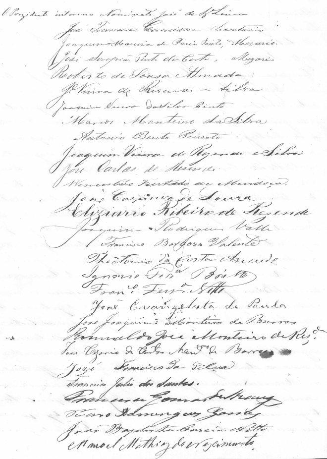 Eleitores de Leopoldina em 1870