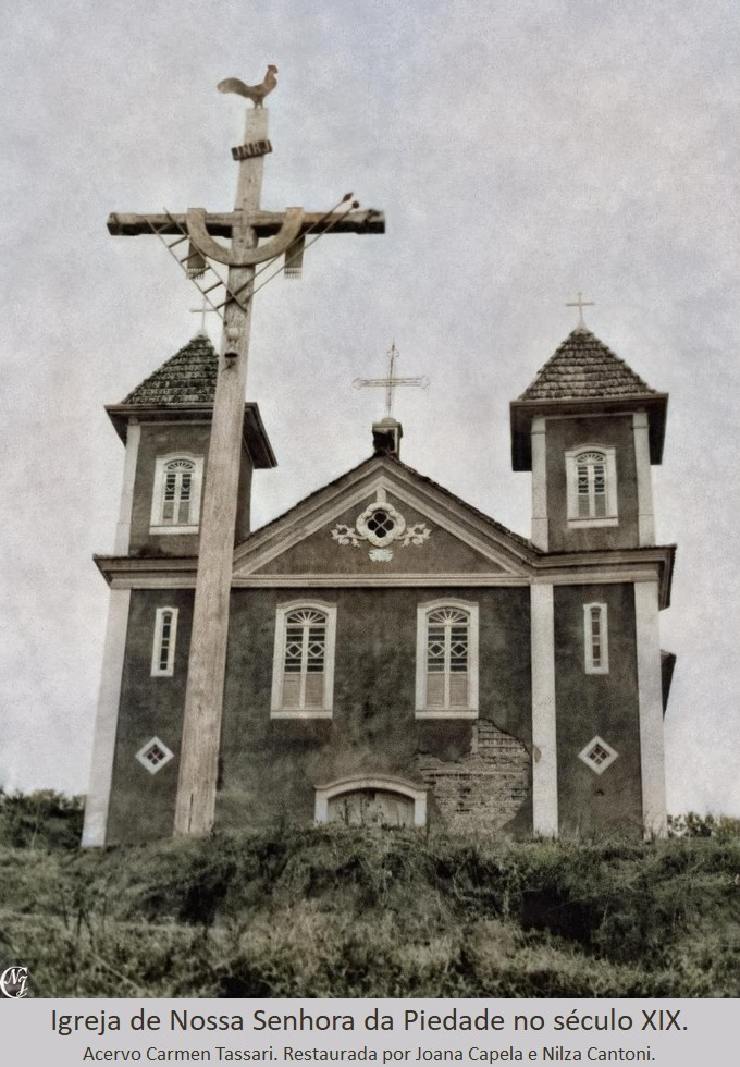 Matriz de Nossa Senhora da Piedade, distrito de Piacatuba, Leopoldina, MG. Século XIX.