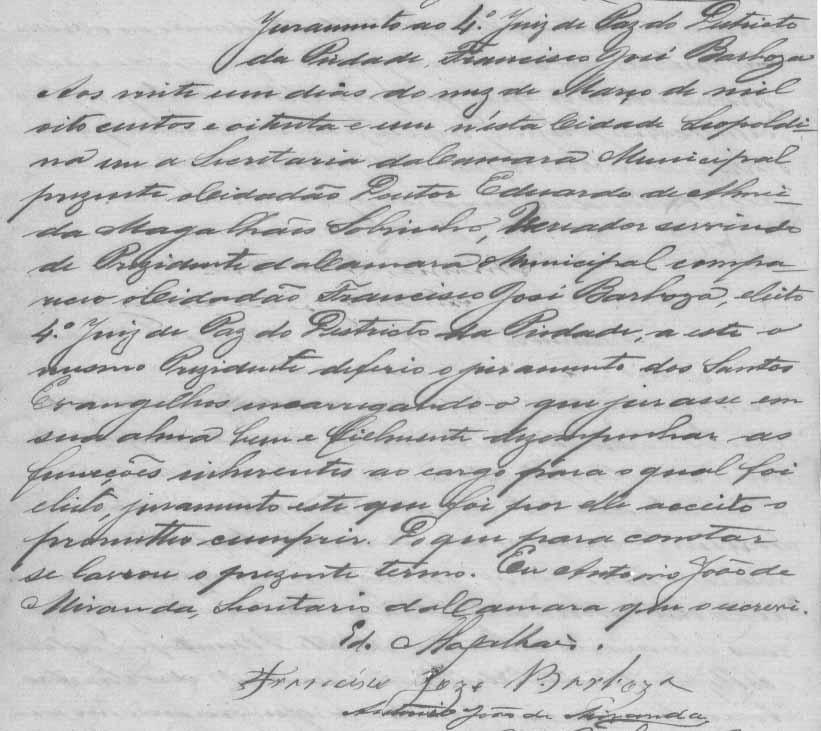 Juramento de Posse de Francisco José Barbosa