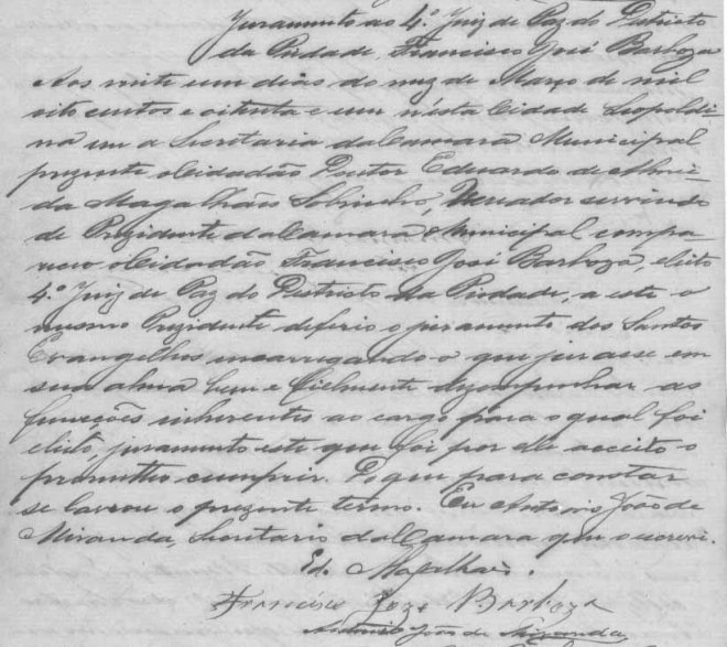 Juramento de Posse de Francisco José Barbosa