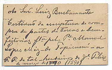 Verso do Cartão de Visitas