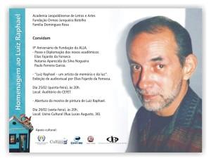 Convite para as comemorações do II aniversário de Fundação da ALLA