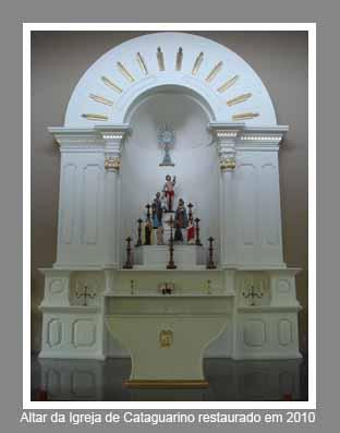 Altar atual da Matriz de Cataguarino