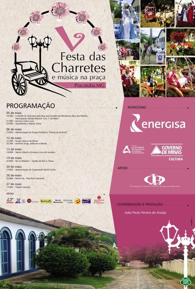 Programação de Piacatuba para o mês de Maio de 2012