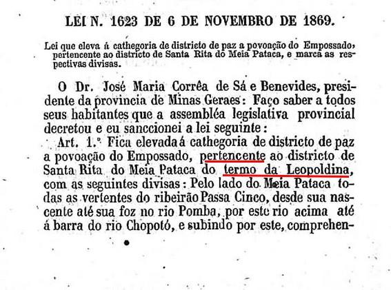 Lei Mineira 1623