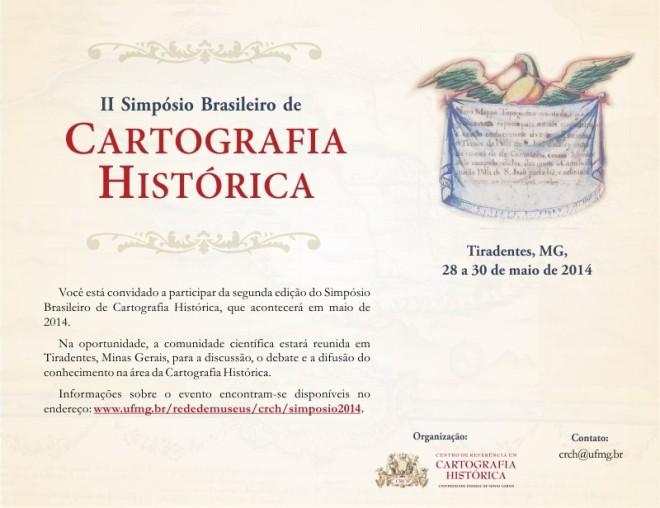 Convite para o II Simpósio Brasileiro de Cartografia Histórica