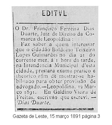 Exame de Advogado em Leopoldina