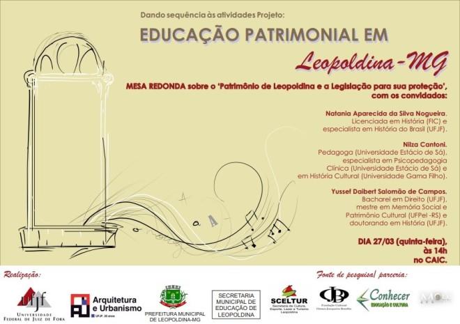 Educação Patrimonial em Leopoldina, MG