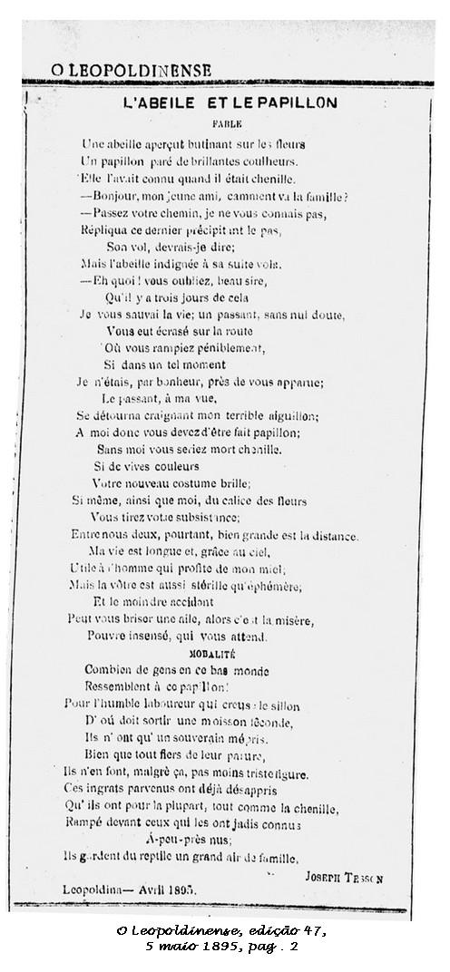 Uma fábula em Francês