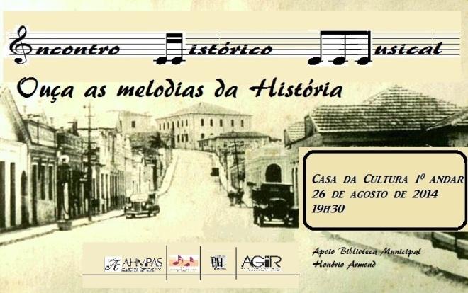 Convite Encontro Hisrórico Musical