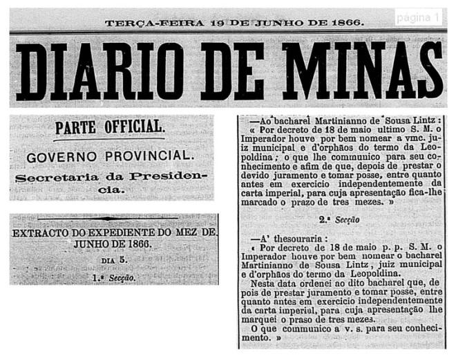 Nomeação de Martiniano de Souza Lintz
