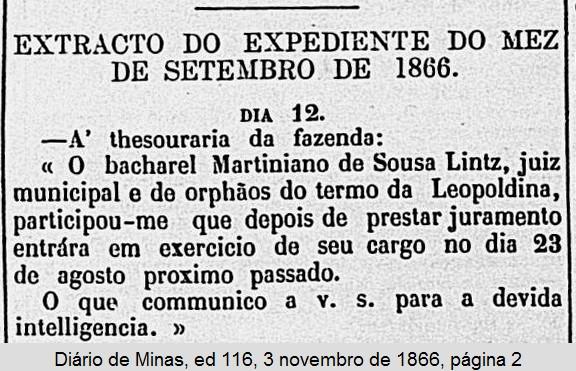 Posse de Martiniano de Souza Lintz