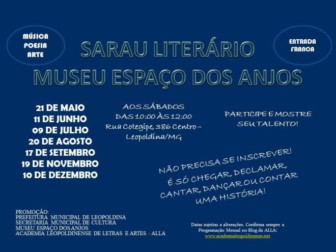 Agenda dos Saraus Literários em 2016