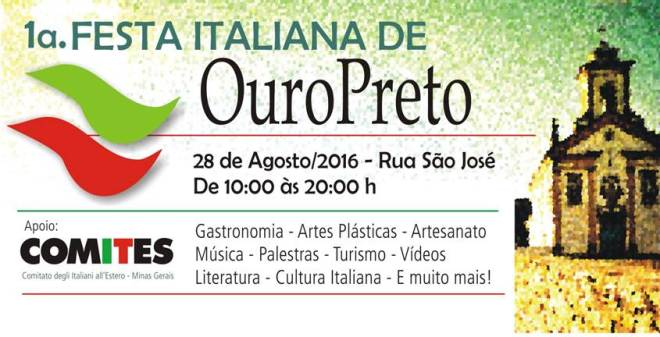 1ª  FESTA ITALIANA DE OURO PRETO