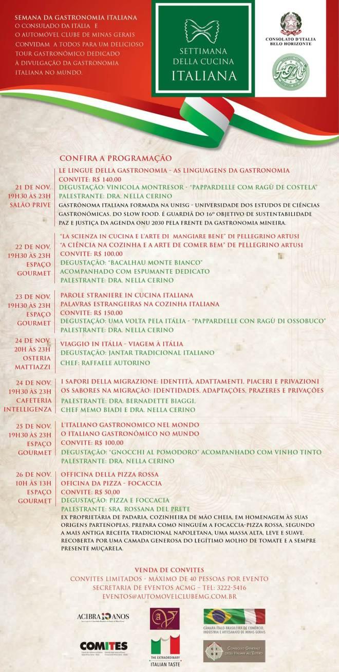 Semana da Gastronomia Italiana no mundo