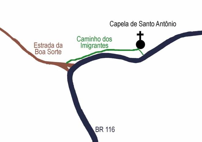 Imagem publicada no jornal Leopoldinense, no artigo Caminho dos Imigrantes, em 15 de maio de 2008.